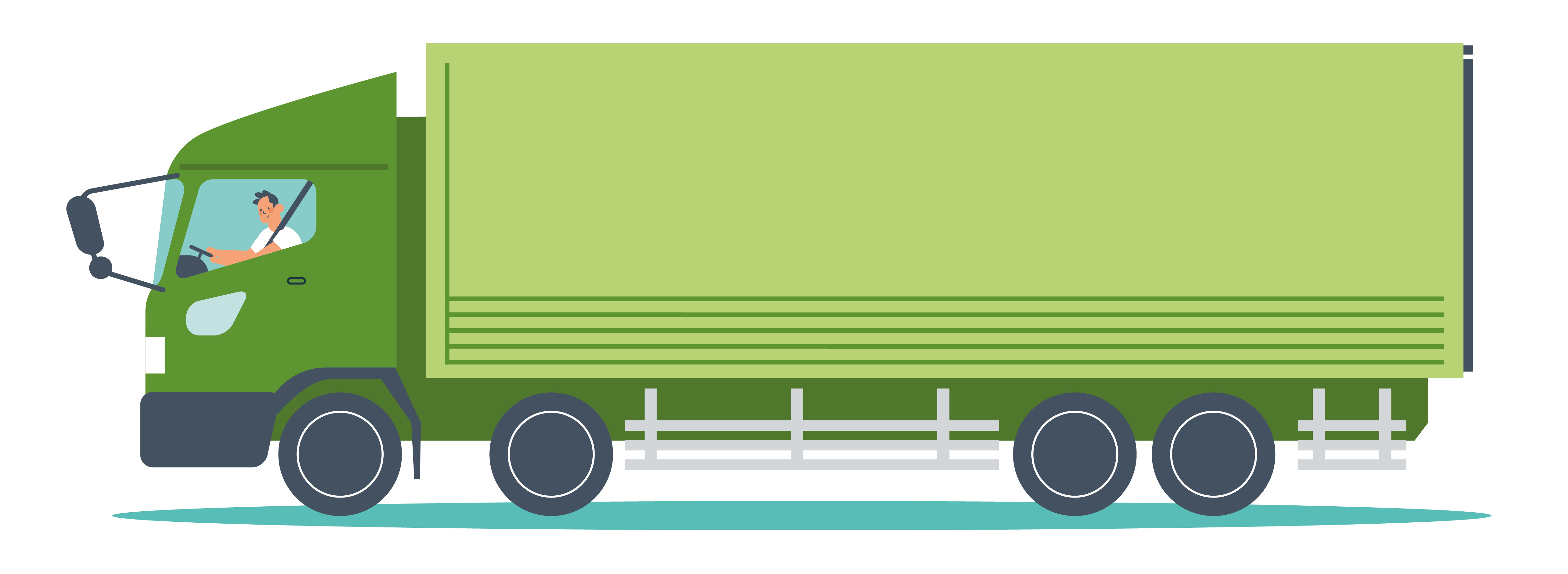 Illustrated graphic of a heavy goods vehicle (HGV)