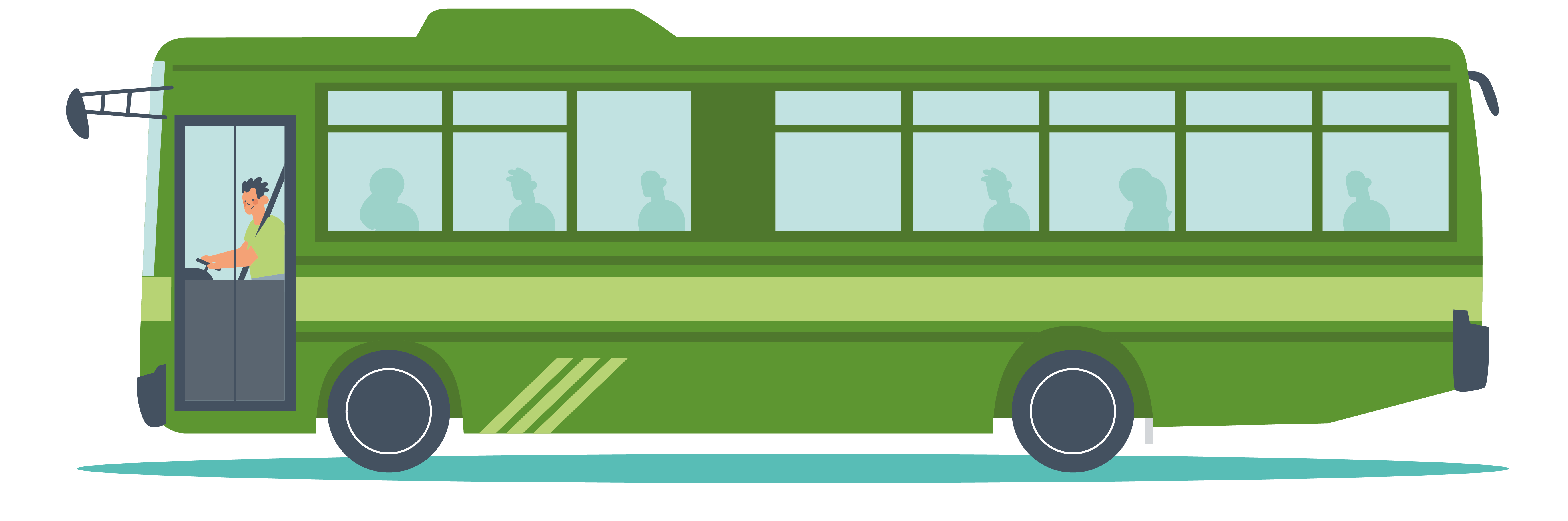 Illustrated graphic of a bus